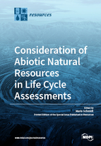 Special issue Consideration of Abiotic Natural Resources in Life Cycle Assessments book cover image