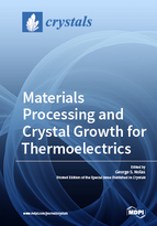 Special issue Materials Processing and Crystal Growth for Thermoelectrics book cover image