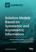 Special issue Solution Models based on Symmetric and Asymmetric Information book cover image