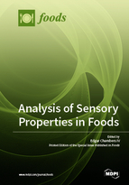 Special issue Analysis of Sensory Properties in Foods book cover image