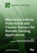 Special issue Microwave Indices from Active and Passive Sensors for Remote Sensing Applications book cover image