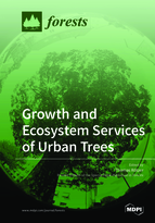 Special issue Growth and Ecosystem Services of Urban Trees book cover image