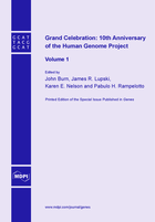 Special issue Grand Celebration: 10th Anniversary of the Human Genome Project book cover image