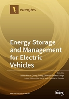 Special issue Energy Storage and Management for Electric Vehicles book cover image