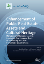 Special issue Enhancement of Public Real-estate Assets and Cultural Heritage: Management Plans and Models, Innovative Practices and Tools in Supporting the Local Sustainable Development book cover image