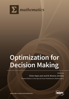 Special issue Optimization for Decision Making book cover image