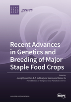 Special issue Recent Advances in Genetics and Breeding of Major Staple Food Crops book cover image