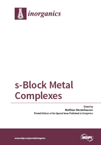 Special issue s-Block Metal Complexes book cover image