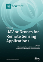 Special issue UAV or Drones for Remote Sensing Applications book cover image
