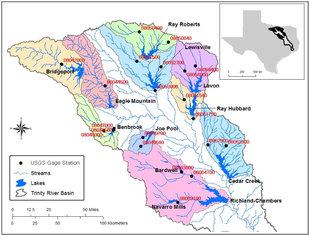 upper trinity river watershed - HD1024×779